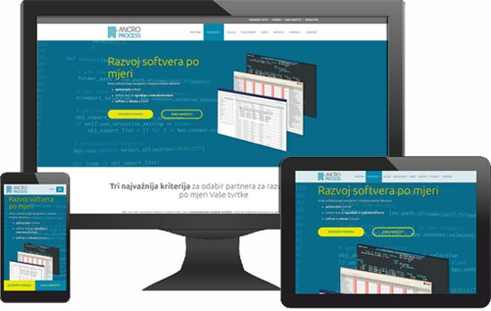 Micro Process website: responsive web design