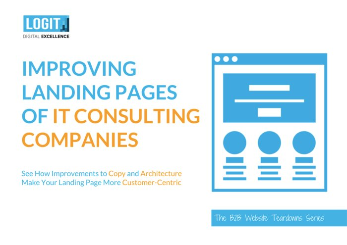 "Cover for ""Improving Landing Pages of IT Consulting Companies"""