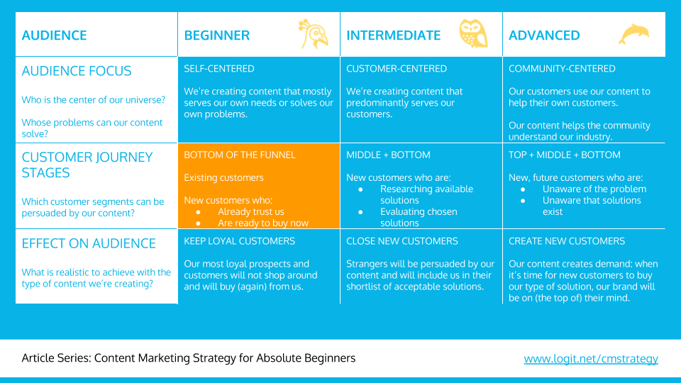 Content marketing strategy: the audience segment
